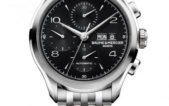 Clifton 10212 chronograph black dial steel bracelet front soldat