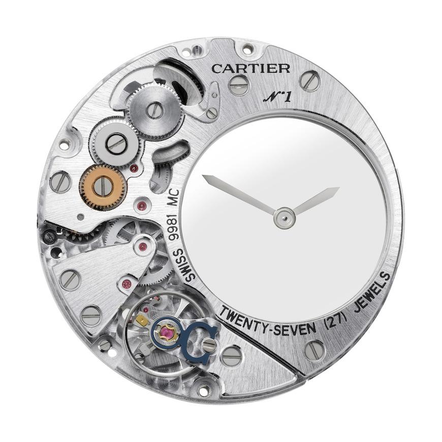 Clé de Cartier Mysterious Hour horloge kaliber