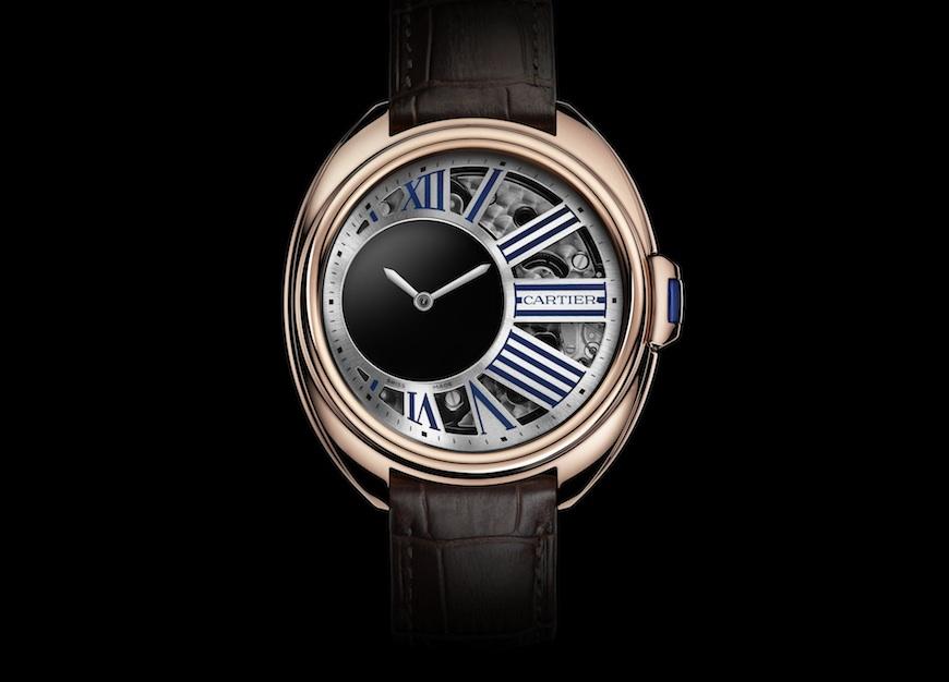 Clé de Cartier Mysterious Hour horloge rosegoud
