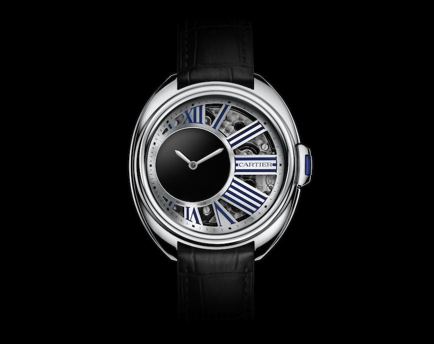 Clé de Cartier Mysterious Hour horloge witgoud