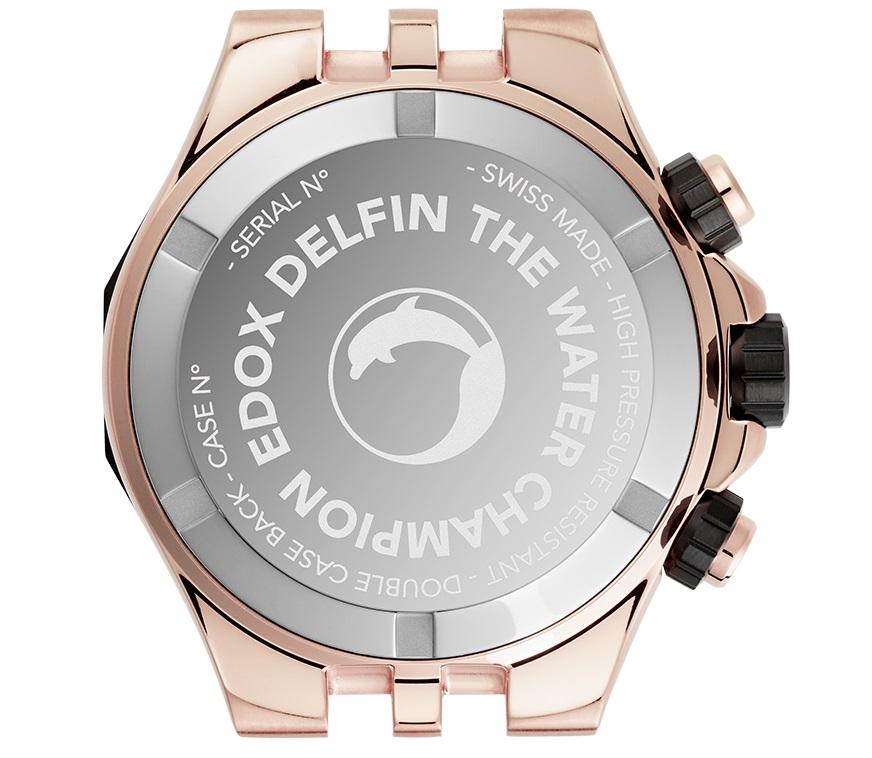 kastdeksel Edox Delfin The Original Chronograph