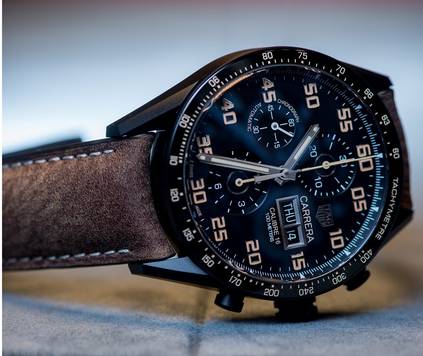 RTAG Heuer Carrera Calibre 16 Day-Date Chronograph Black Titanium
