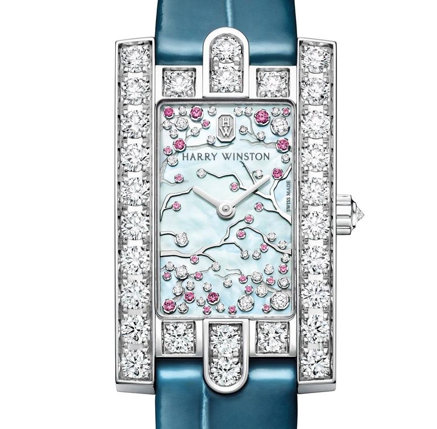 Harry Winston luxe horloge Avenue Classic Cherry Blossom