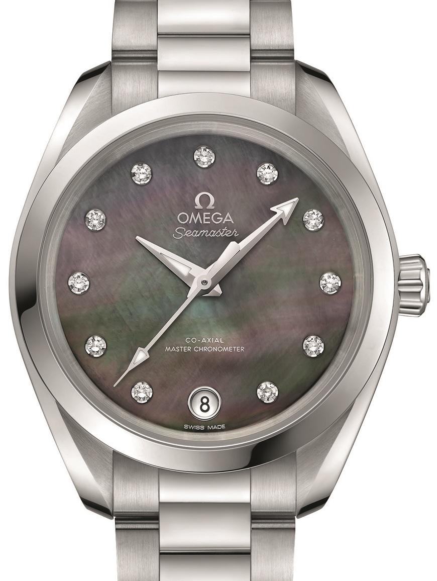 Omega Seamaster Aqua Terra Master Chronometer dameshorloge donkere wijzerplaat
