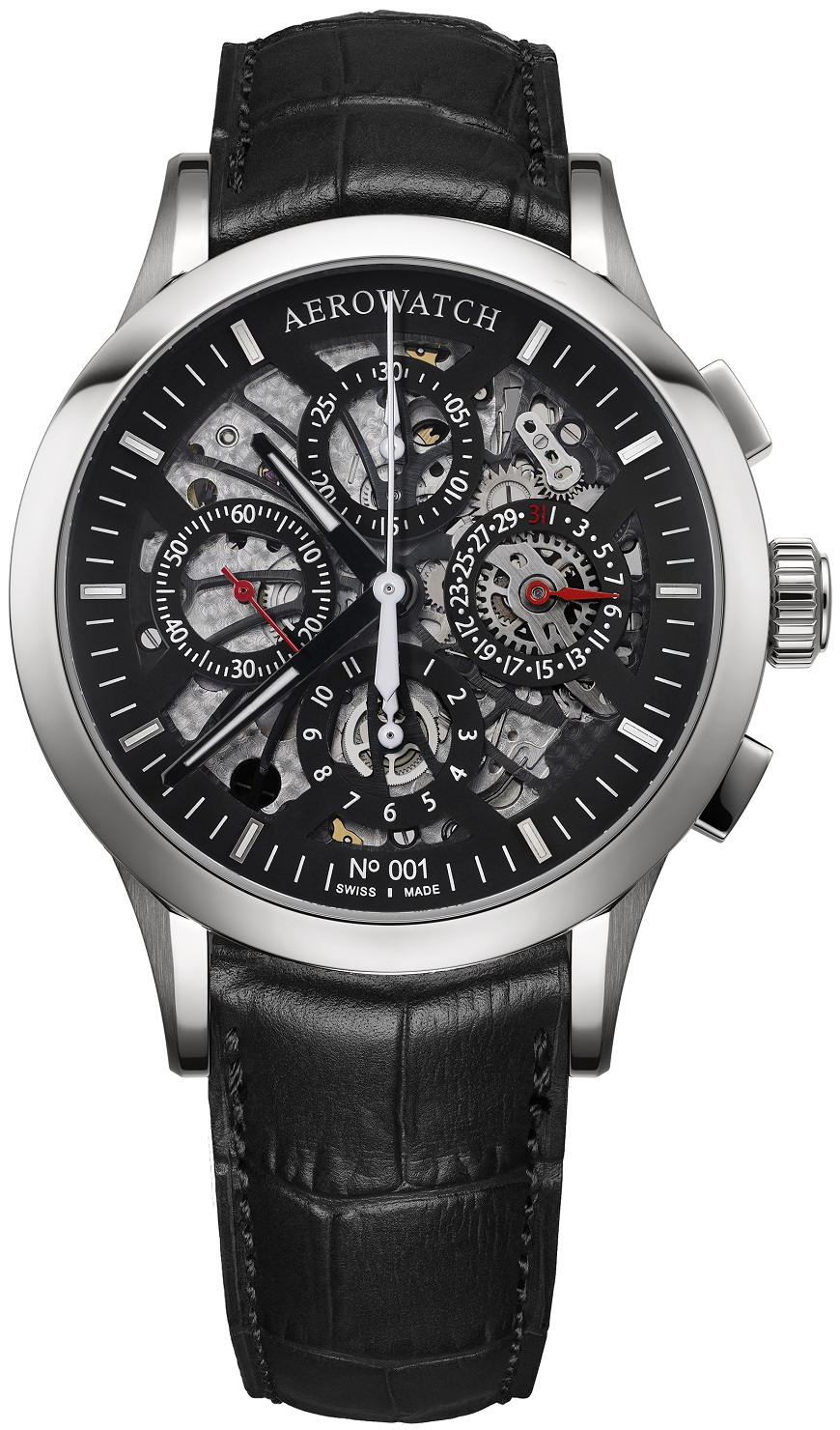 A AEROWATCH  Les Grandes Classiques - automatische Semi-Skeleton Chronograaf