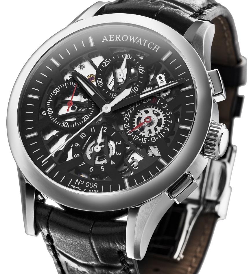 AEROWATCH  Les Grandes Classiques - automatische Semi-Skeleton Chronograaf