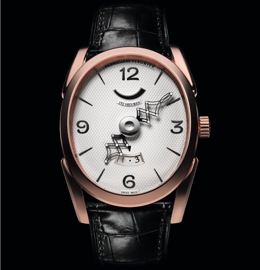 Parmigiani Fleurier Ovale Pantographe met een gouden uurwerk_rosegoud