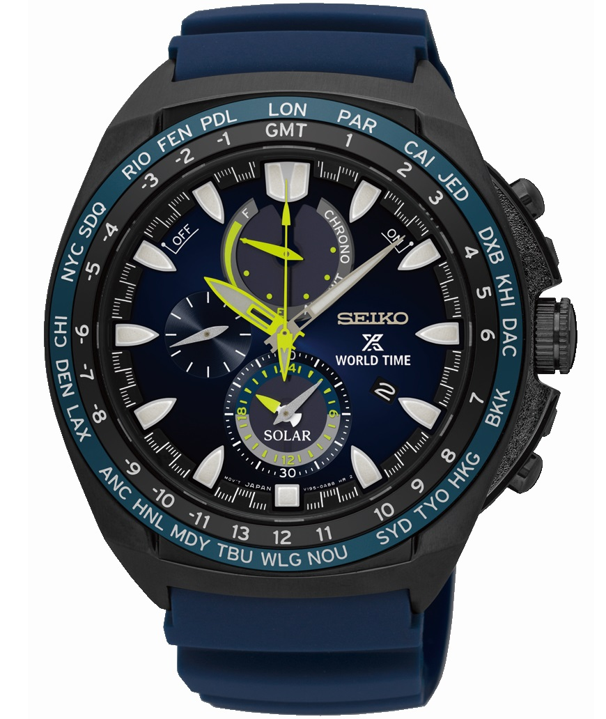 Seiko Prospex World Time Solar Chronograaf SSC551P1
