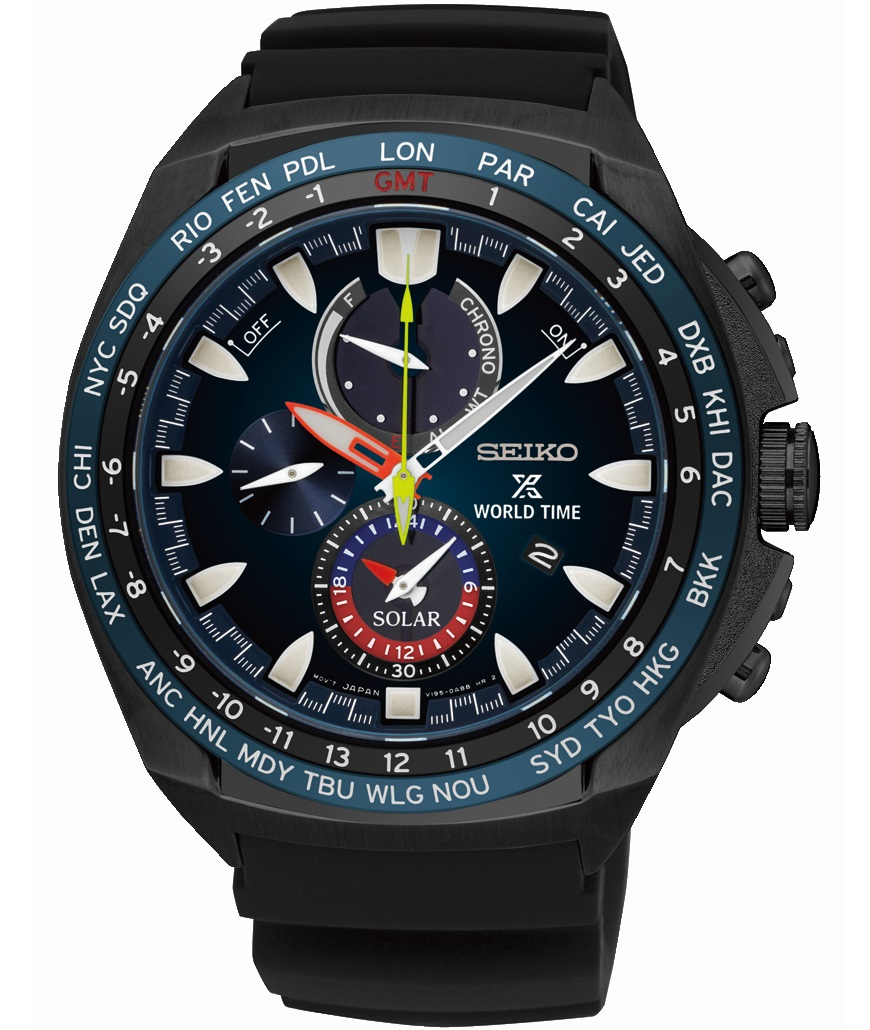 Seiko Prospex World Time Solar Chronograaf SSC571P1