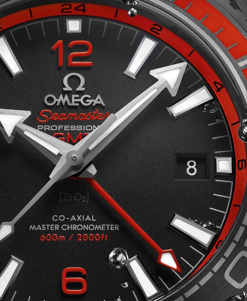 Omega Seamaster Planet Ocean 600M Deep Black 215.92.46.22.01.003,  wijzerplaat