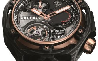 Hublot Ferrari 70 Years Tourbillon Chronograph Peek Carbon & King Gold