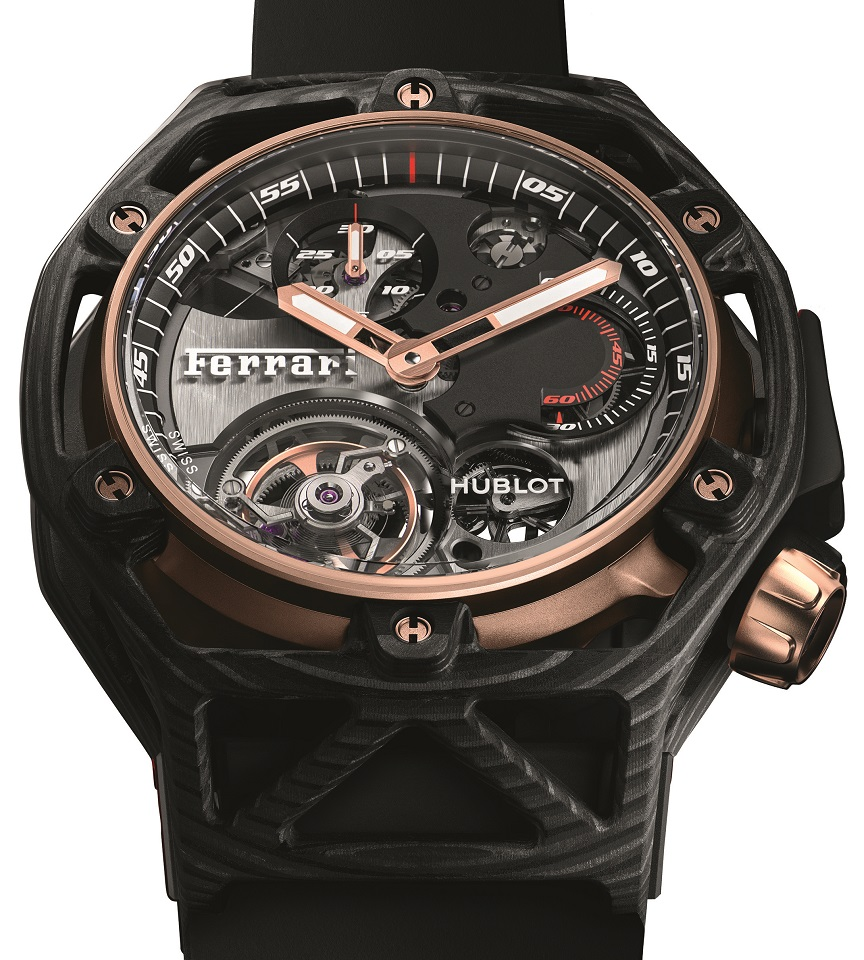 Hublot Ferrari 70 Years Tourbillon Chronograph Peek Carbon & King Gold