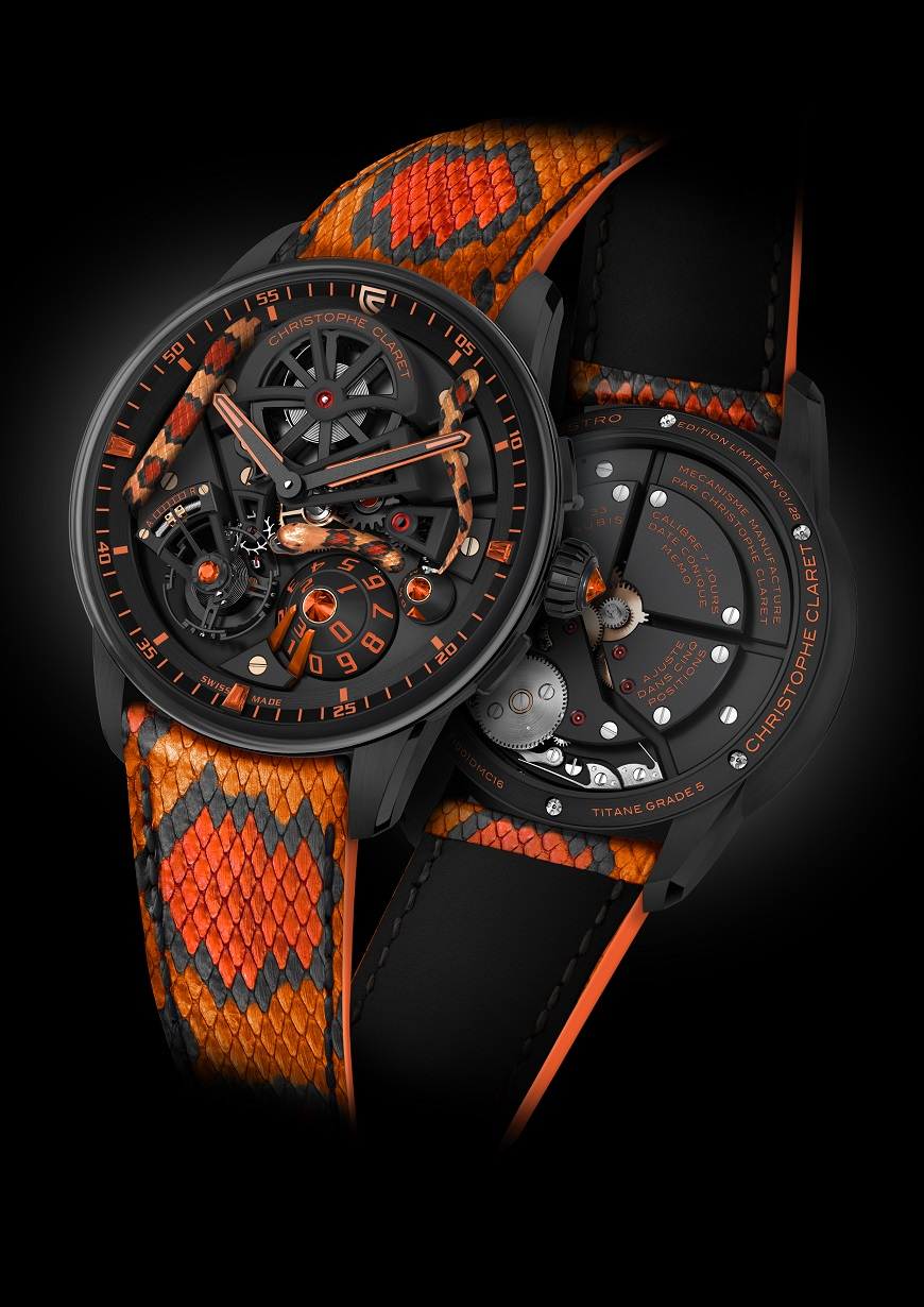 SIHH 2018: Christophe Claret Maestro Mamba Orange