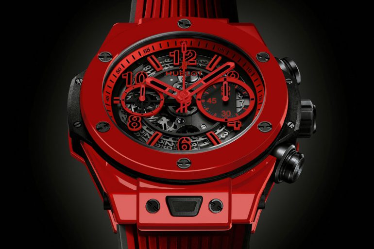 Behalve zeer rood is de Hublot Big Bang Unico Red Magic ook zeer driedimensionaal