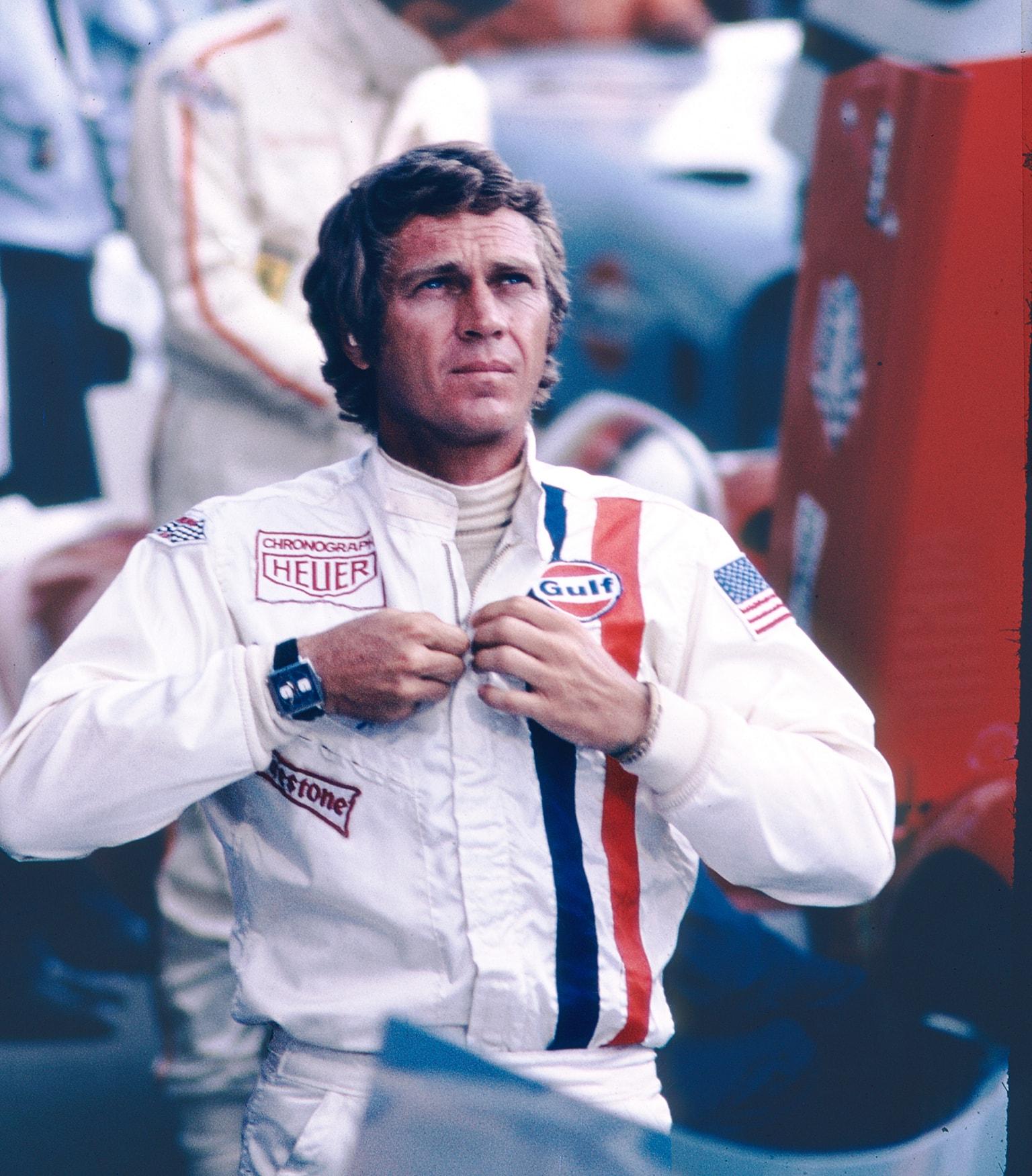 Steve McQueen met zijn Monaco in de film LeMans uit 1971-min