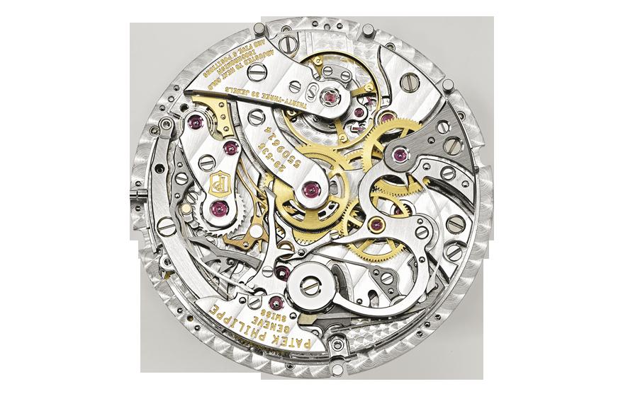 Het uurwerk in de Ref. 5270P is het met de hand op te draaien CH 29-535 PS Q dat bestaat uit 456 onderdelen