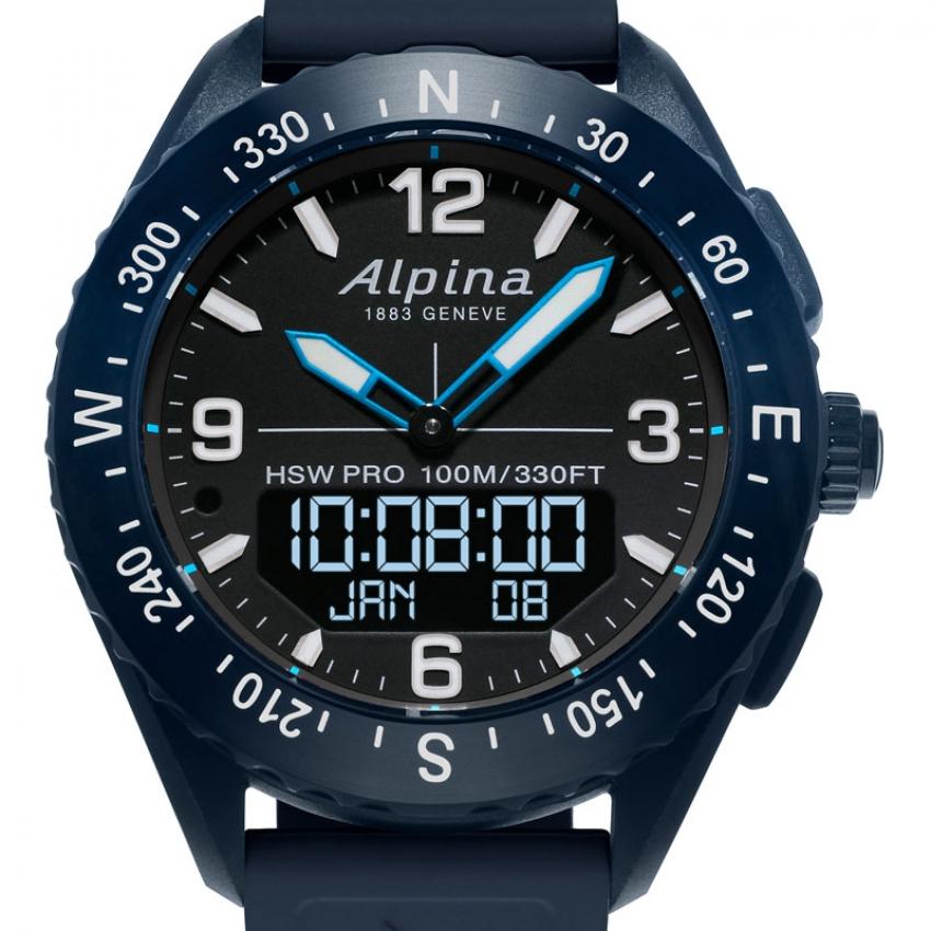 Alpina AlpinerX met blauwe elementen