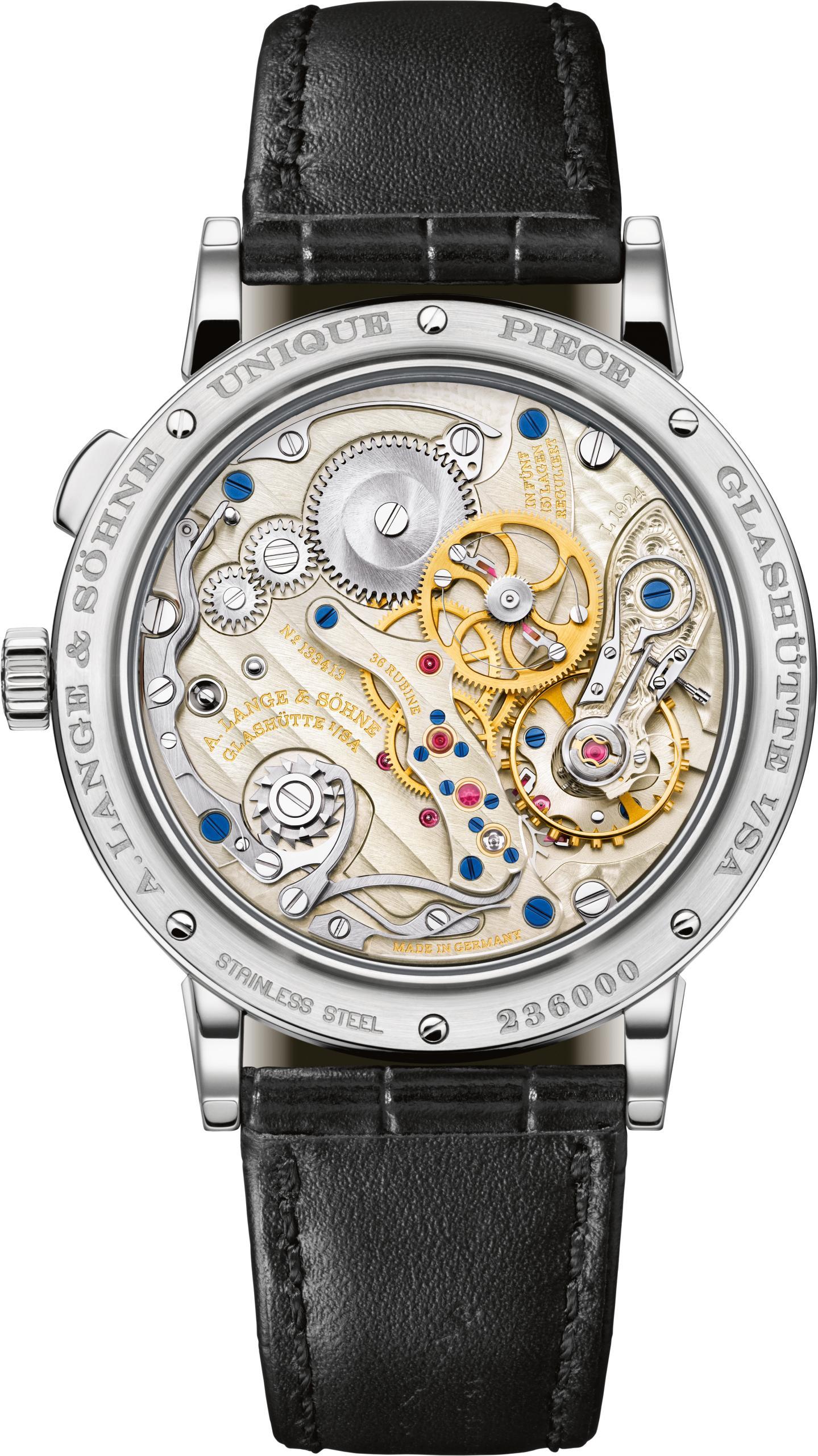 Het gebruikte uurwerk in deze 1815 is nieuw ontwikkeld en heet L1924