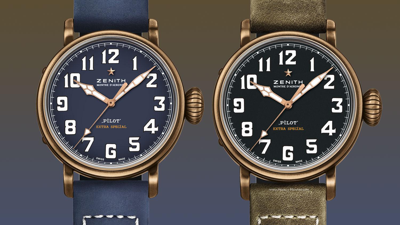 Zenith Pilot Type 20 Extra Special 40 mm Bronze in blauw en zwart