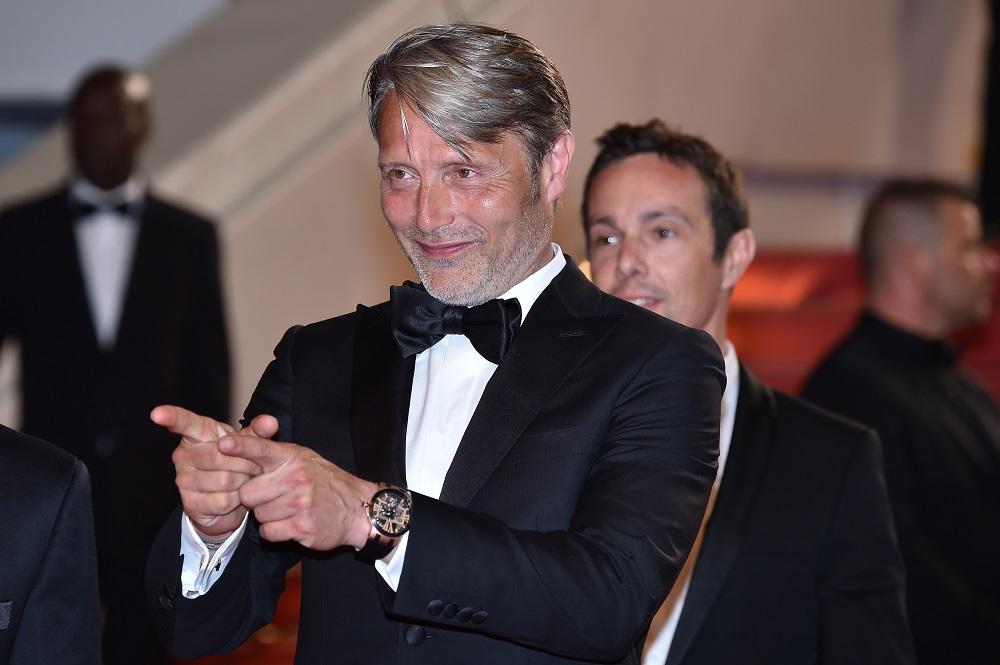 Mads Mikkelsen met zijn Ulysse Nardin tijdens het filmfestival in Cannes )Foto: Dominique Charriau/WireImage)