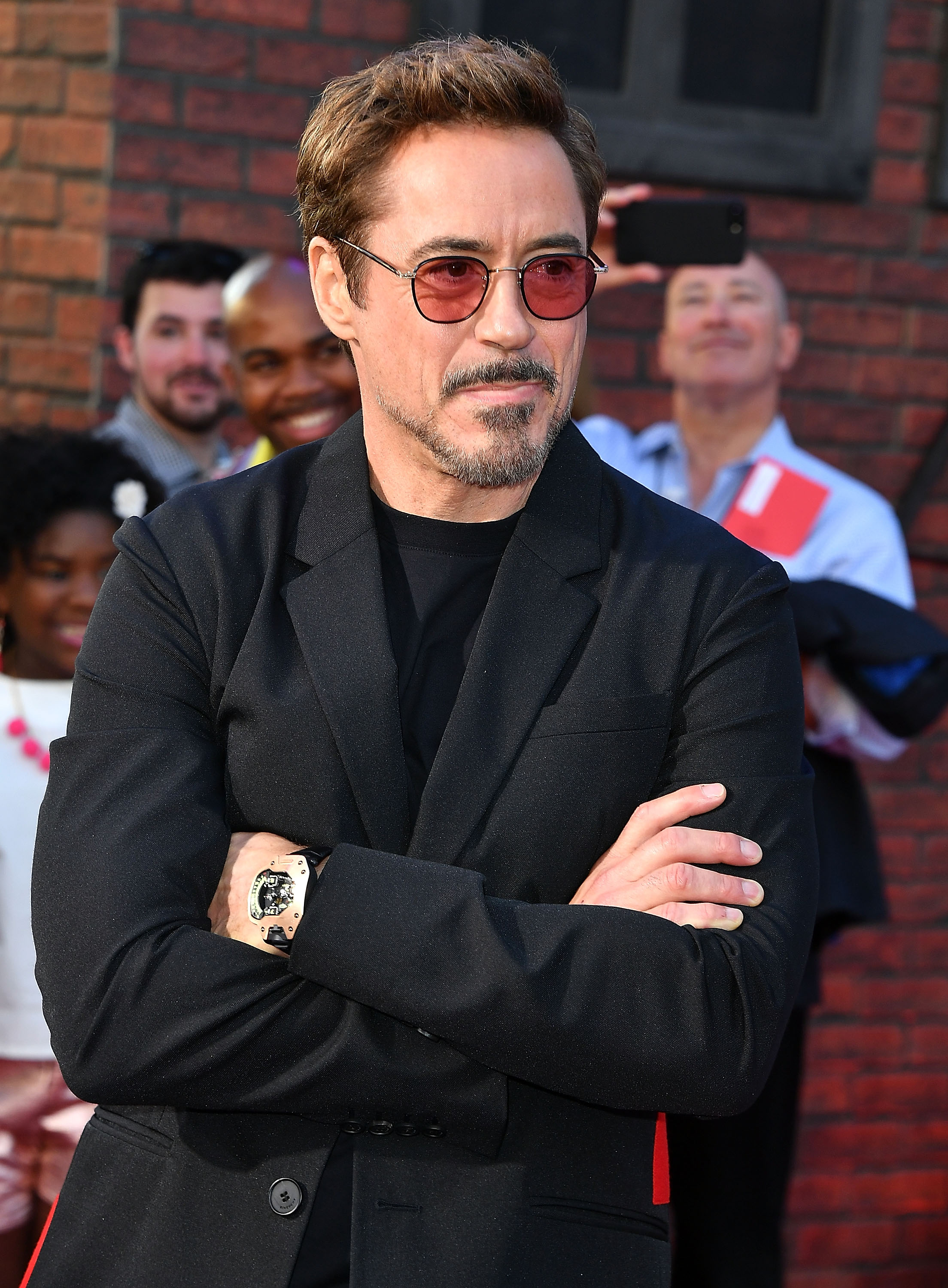 Robert Downey Jr. met zijn Urwerk (Photo by Steve Granitz/WireImage)