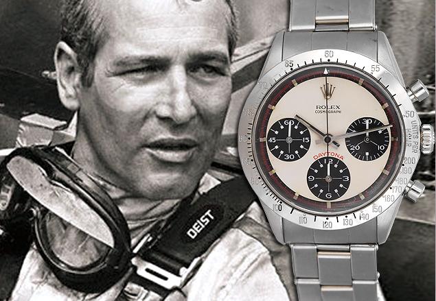 Paul Newman met zijn Rolex Daytona