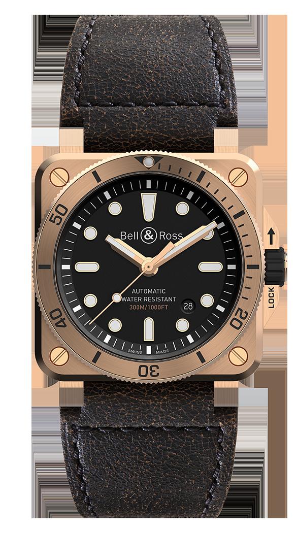 De gelimiteerde Bell & Ross BR03-92 Diver in brons