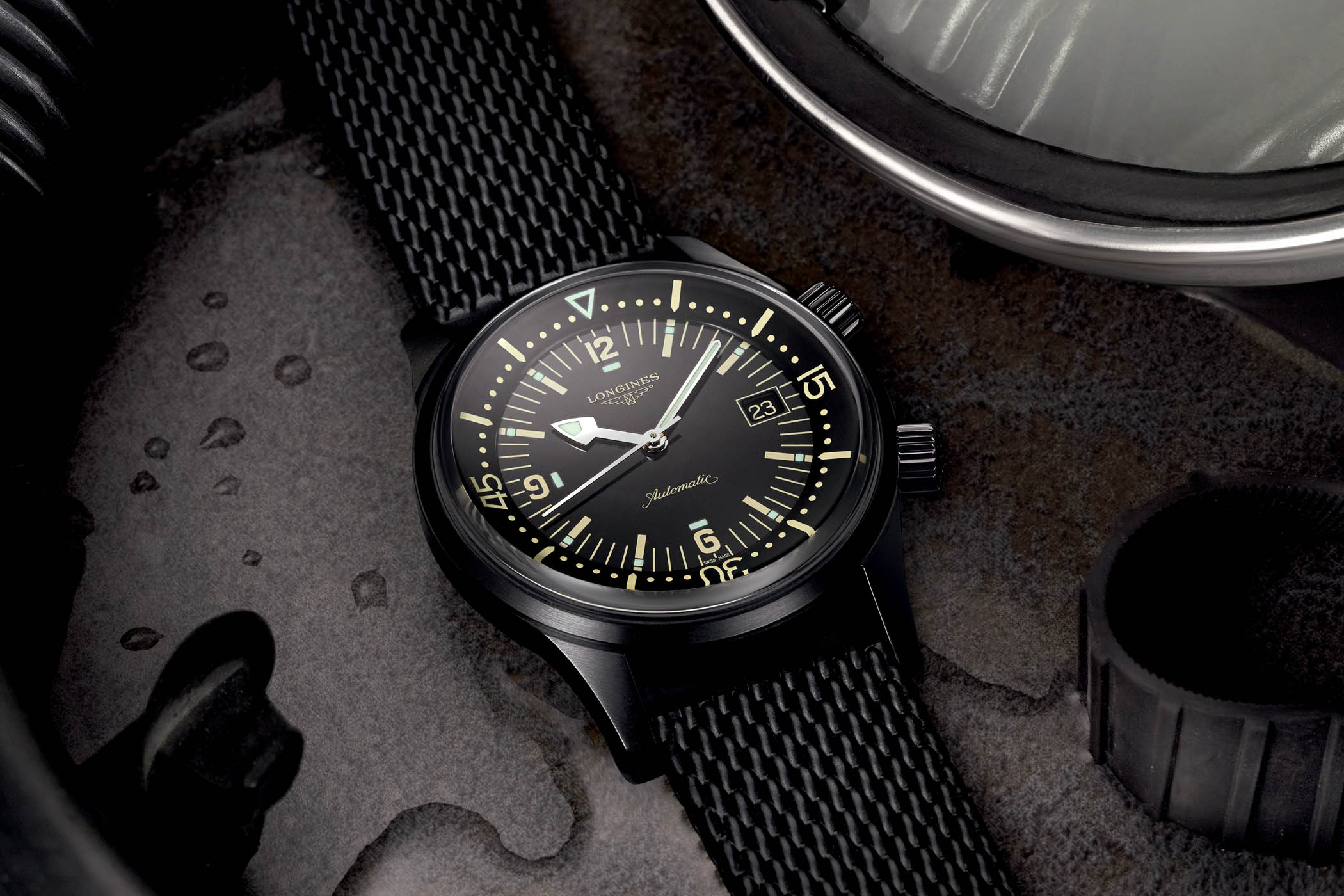 Longines Legend Diver Black PVD