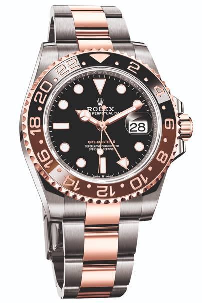 Rolex GMT Master II 'Root Beer' in staal en Rolesor