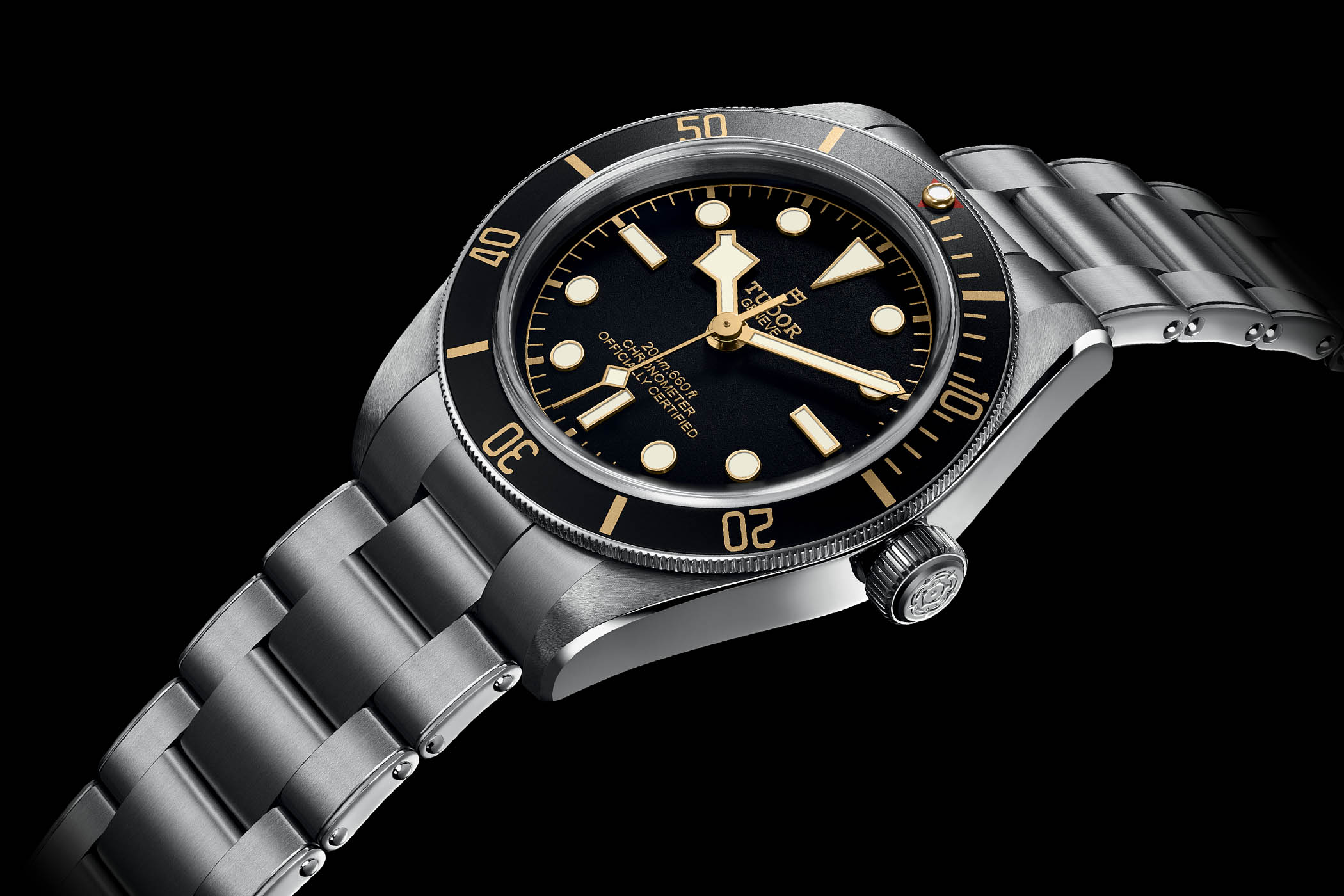 Tudor Heritage Black Bay Fifty-Eight 39mm met karakertistieke stalen band