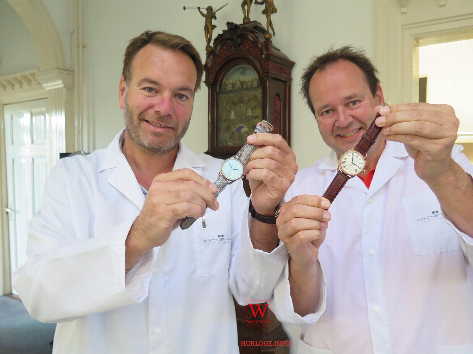 De Horological Brothers Bart (l.) en Tim Grönefeld