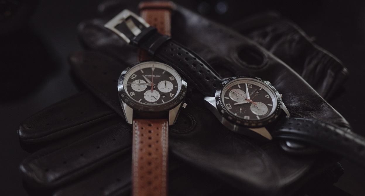 Twee reverse panda TimeWalker chronografen van Montblanc