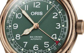 De bronzen Oris Big Crown Pointer Date 80th Anniversary Edition