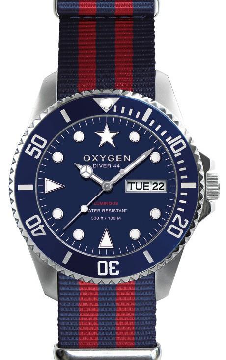 Oxygen-Admiral Diver44-blauwrode-nato-band-euro 139