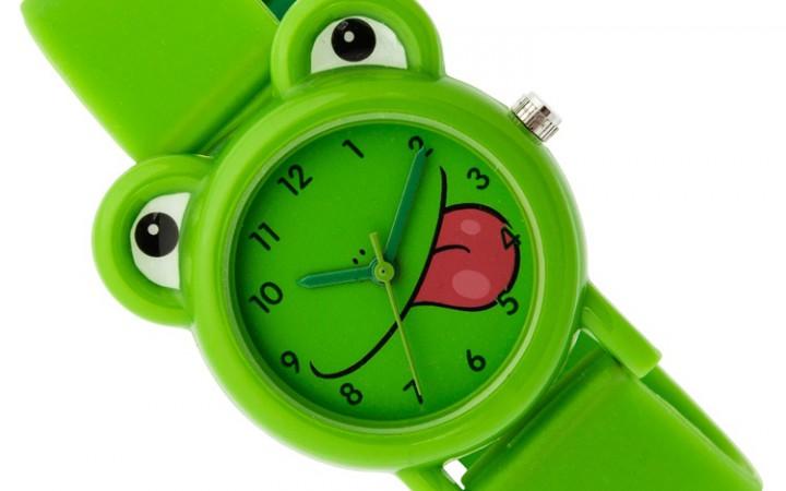 Tikkers-kids-horloge-groene kikker