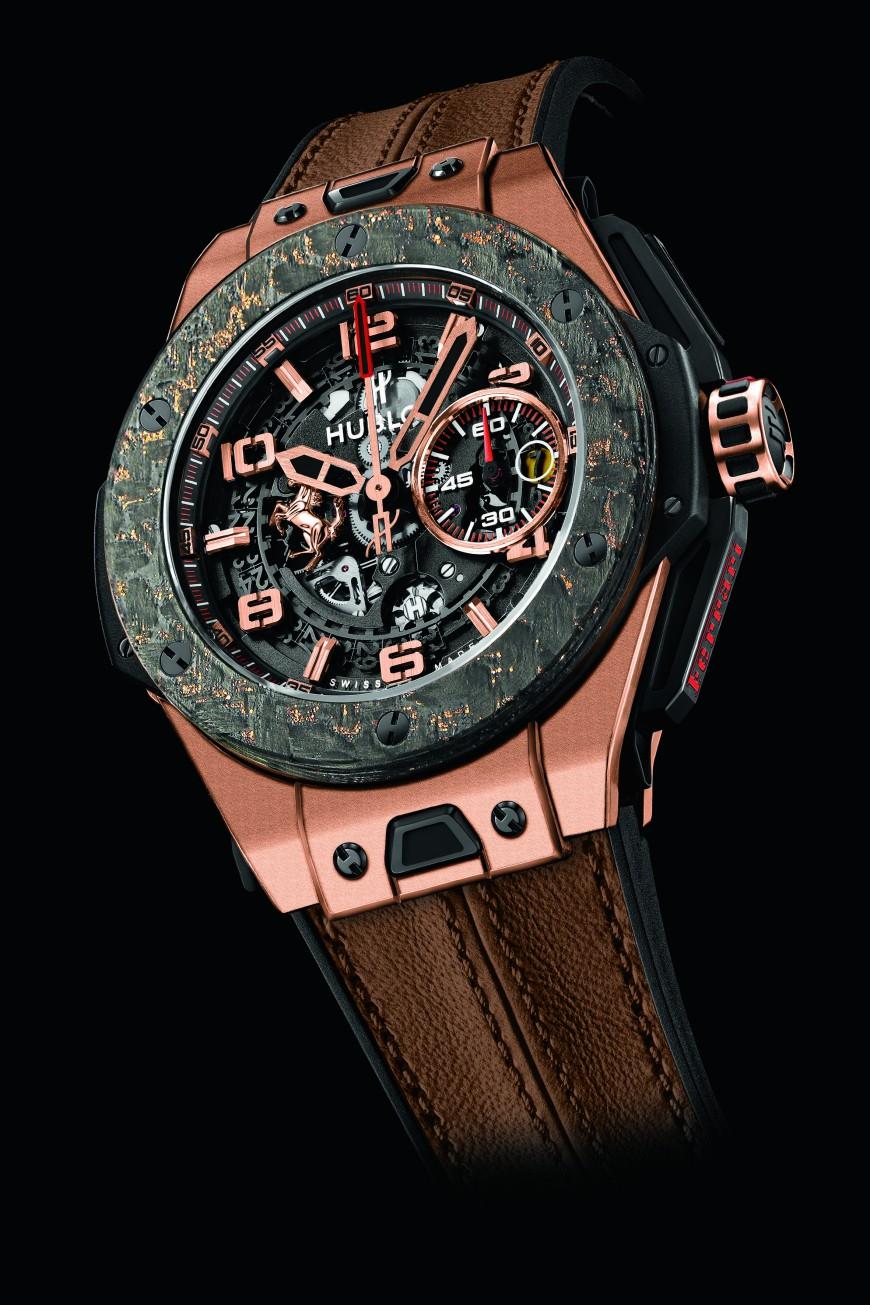 Hublot horloge Big Bang Ferrari Carbon King rosegoud