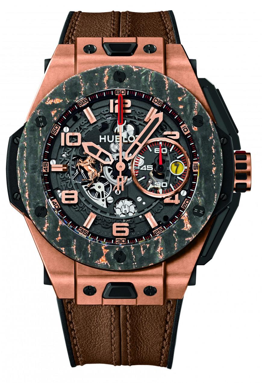 Hubot horloge Big Bang Ferrari Carbon King rosegoud