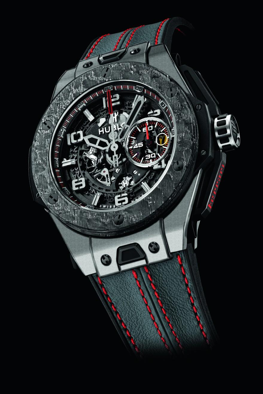 Hublot horloge Big Bang Ferrari Carbon King titanium