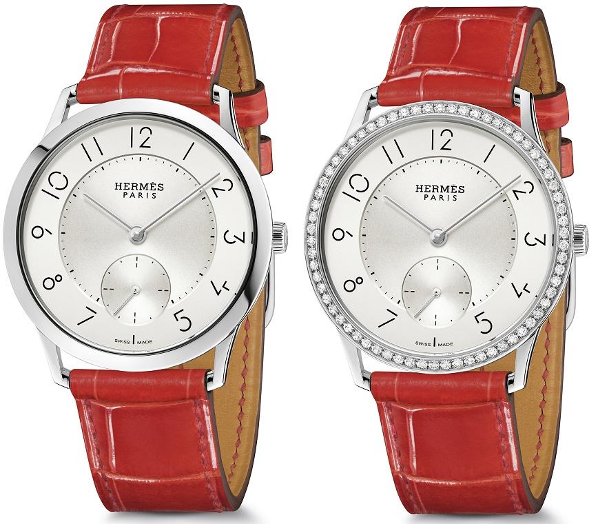 Slim d'Hermès dames horloge diamanten