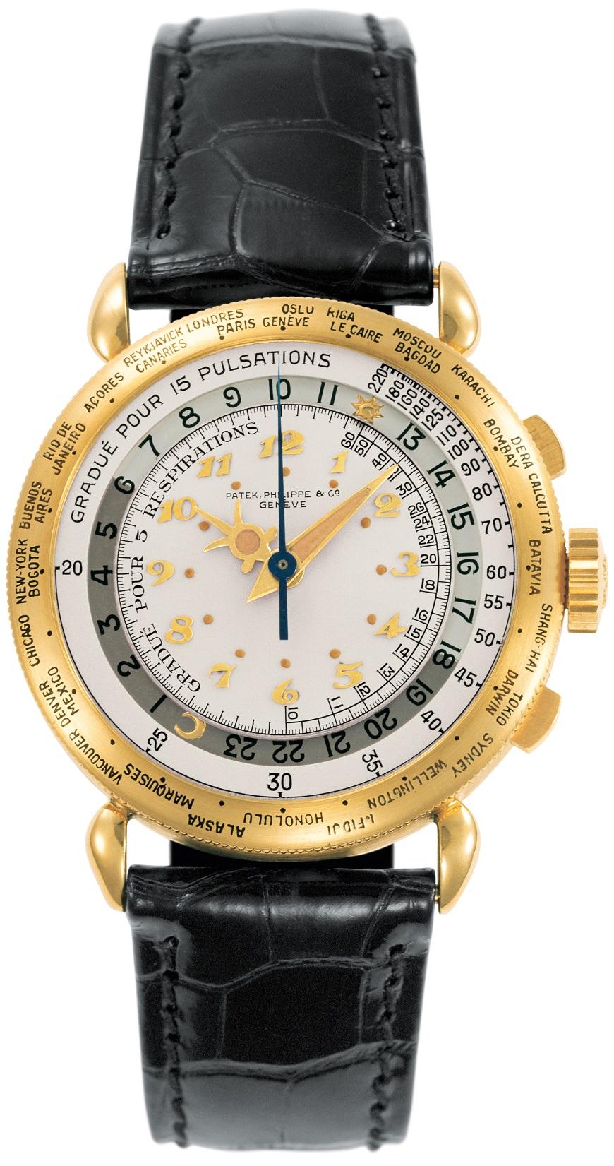De 1940 Patek Philippe World Time Chronograph