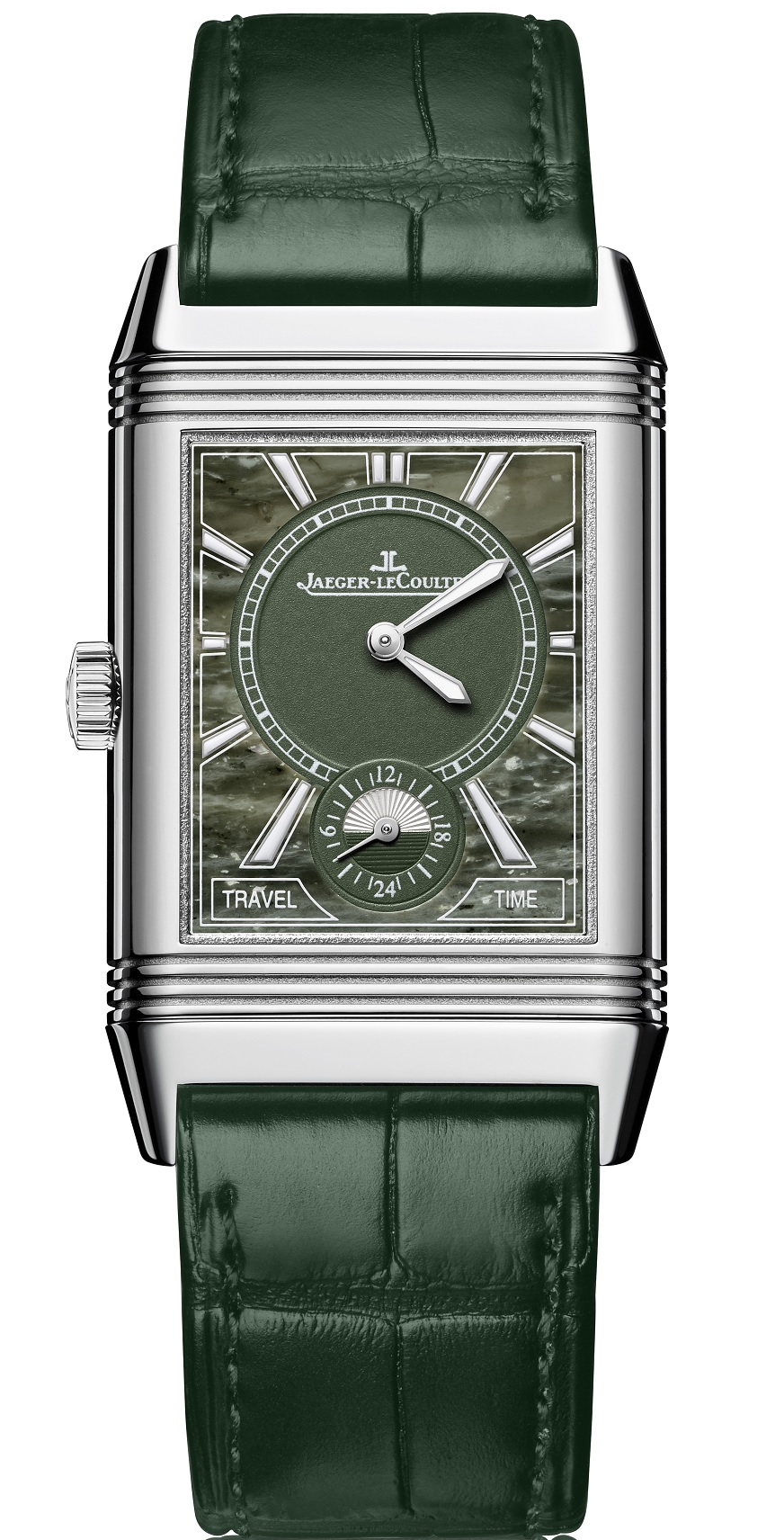 Reverso Classic Large Duo Small Seconds groen