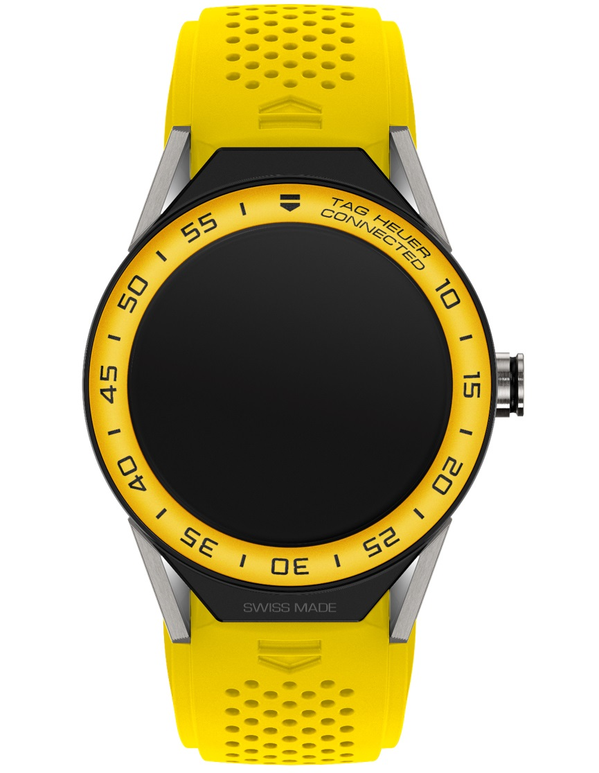 TAG Heuer Connected Modular 45 Yellow Strap_white