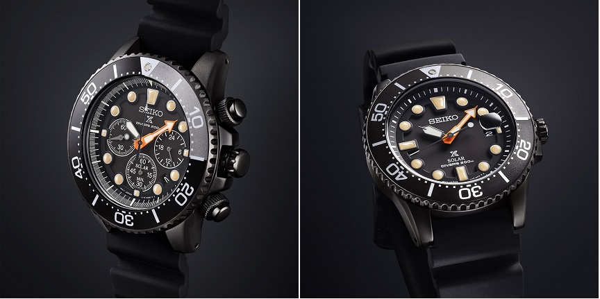 Seiko Prospex Solar Diver Chronograph SSC673P1 & Seiko Prospex Solar Diver SNE493P1