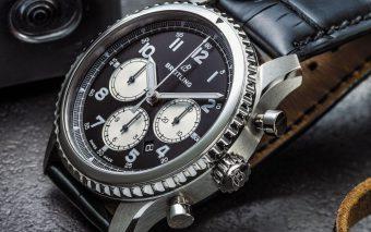 De nieuwe Breitling Navitimer 8 met in de kast B01 manufactuur chronograafuurwerk