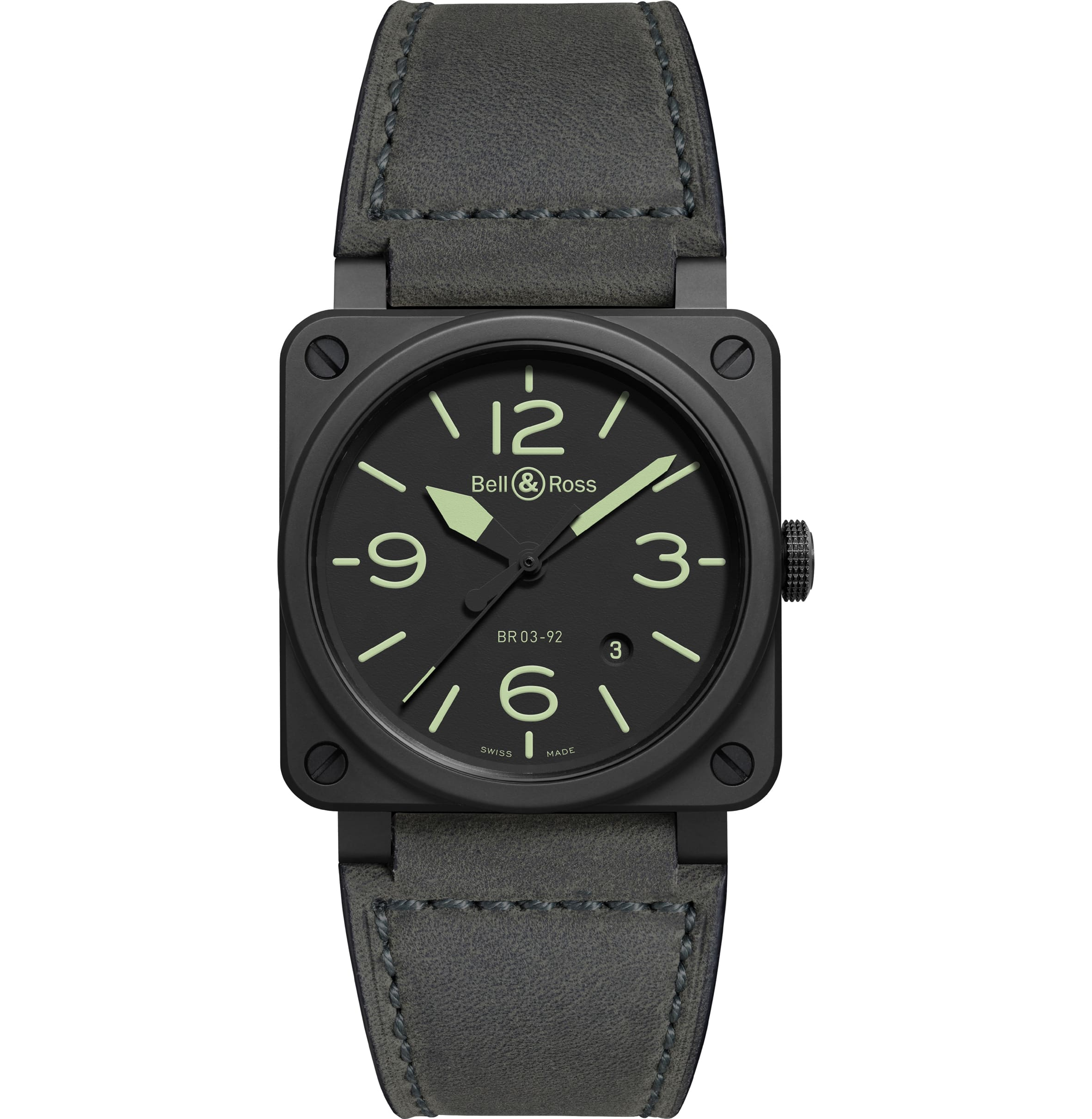 De 42 mm BR03-92 Nightlum is een comfortabel dragend cockpitsinstrument
