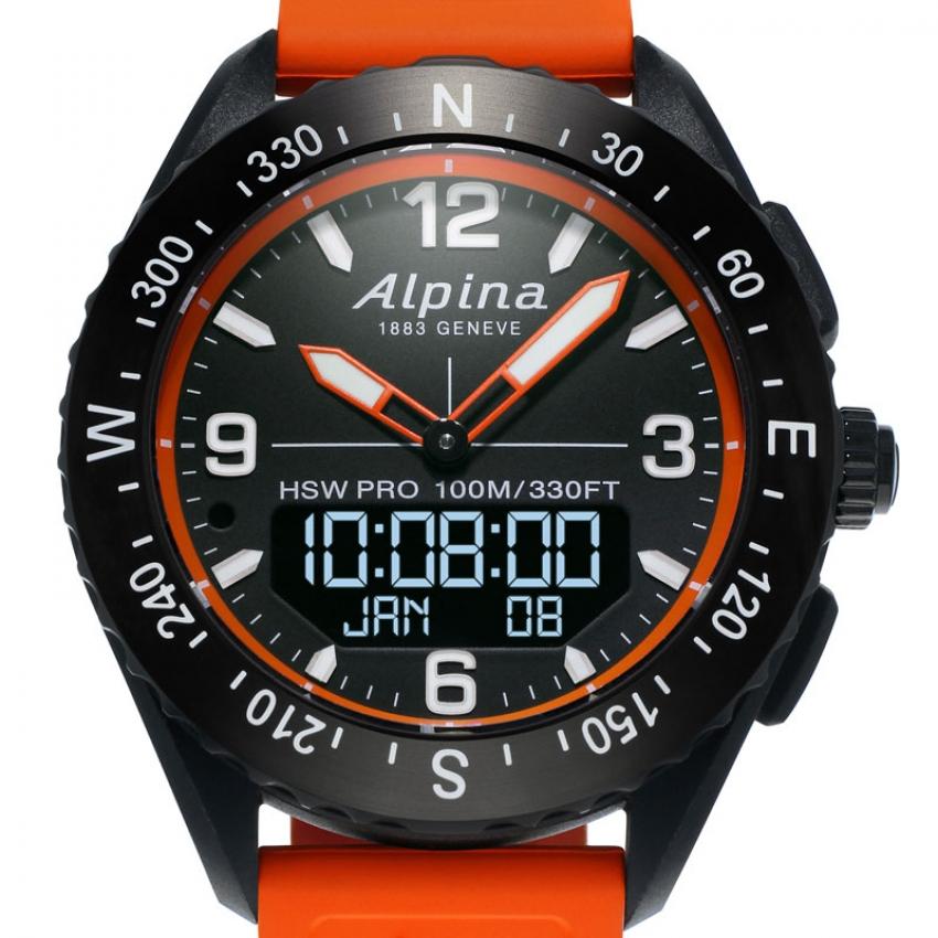 Alpina AlpinerX met oranje elementen