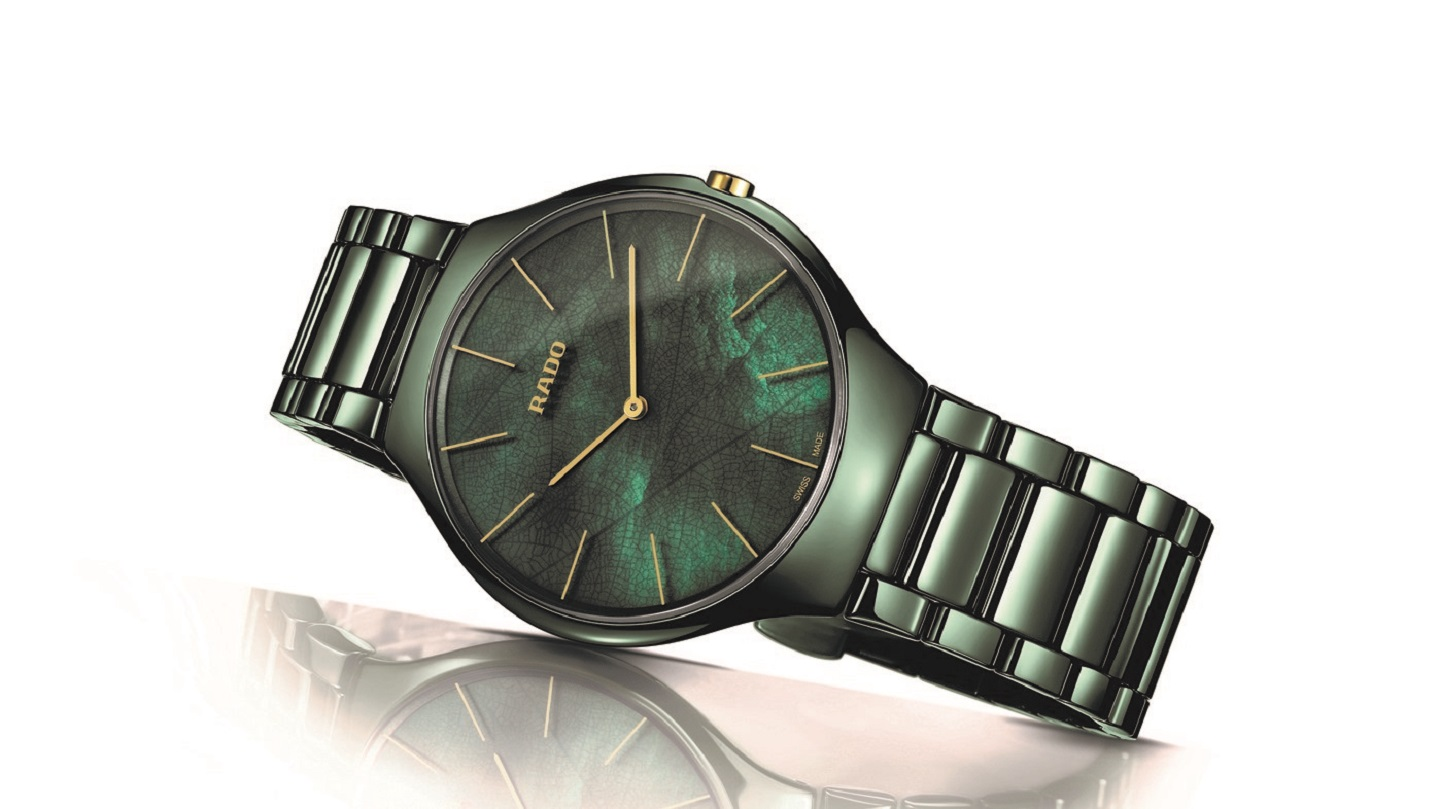 Rado True Thinline in lentegroene uitdossing