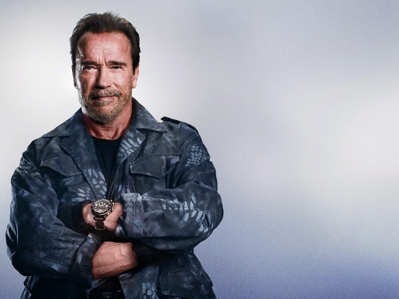 In 'The Expendables 3' Arnold Schwarzenegger draagt een grote U-Boat om de pols