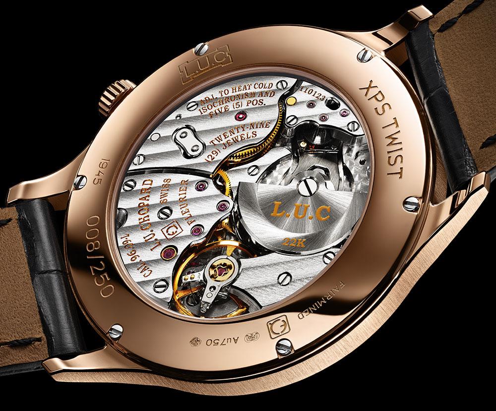 Het automatische uurwerk met microrotor van de Chopard L.U.C XPS Twist QF Fairmined