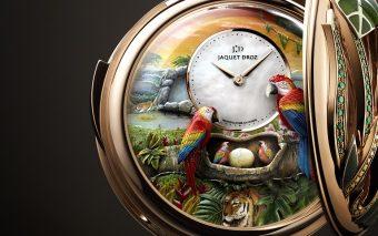 De Parrot Repeater Pocket Watch is een unieke automaton